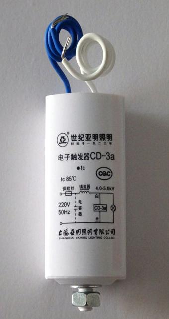 亚牌-cd-3a  cd系列电子触发器主要用于高压钠灯,金属卤化物灯及其他