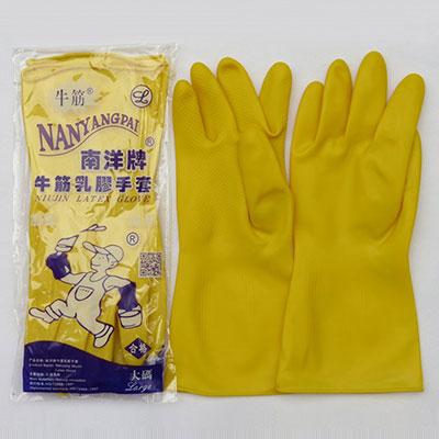 防水橡胶手套,M号,32cm