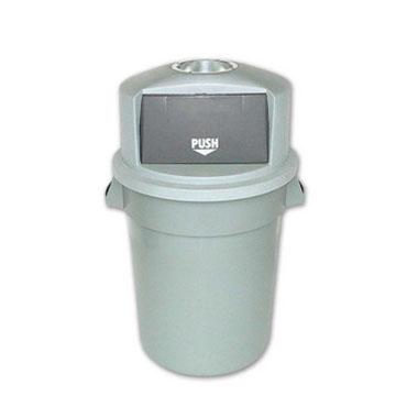 灰色半圆头垃圾桶,60L