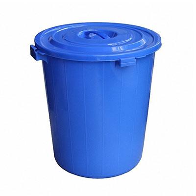 垃圾桶,蓝色带盖,内径:390mm,高度:460mm