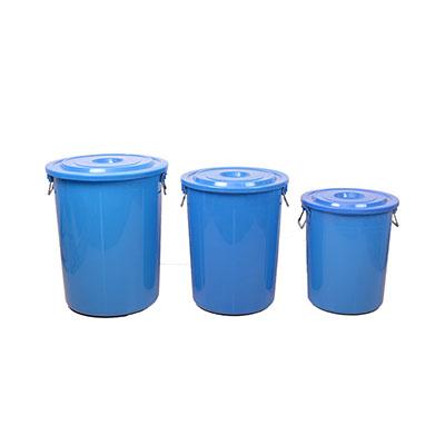 垃圾桶,蓝色带盖,有拉手,100L