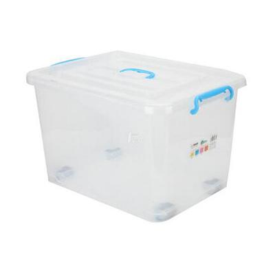 塑料整理箱,约60L,60*42*34cm,带轮子