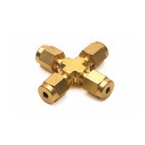 弯管接头,1/8 英寸,黄铜