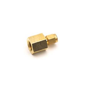 适配接头,1/4 英寸内螺纹 NPT 至 1/8 英寸缩径,黄铜