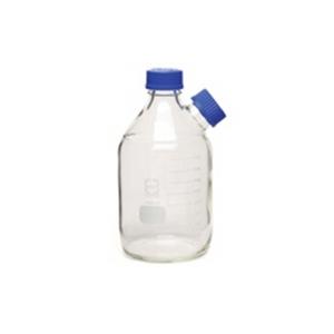 溶剂瓶 (GL45),透明,2 L,2 个入口,带盖