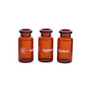 样品瓶,钳口,顶空,棕色,经认证,平底,10 mL,23 × 46 mm,100/包。样品瓶规格:22.75 mm × 46 mm(20 mm 瓶盖)