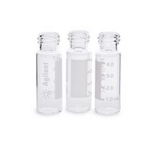 样品瓶,螺口,透明,带书写签,4 mL,15 mm × 45 mm,100/包。样品瓶尺寸:15 mm × 45 mm(13-425 瓶盖)