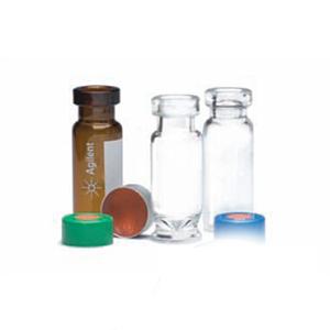 样品瓶,钳口,棕色,带书写签,经认证,2 mL,100/包。样品瓶规格:12 × 32 mm(11 mm 瓶盖)