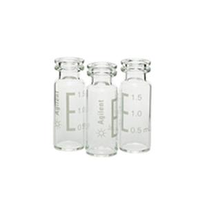 样品瓶,卡口,2 mL,透明,100/包。样品瓶规格:12 × 32 mm(11 mm 瓶盖)