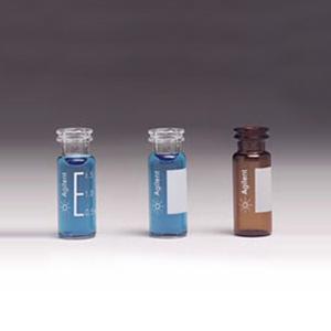 样品瓶便携式套装,钳口/卡口,棕色样品瓶,透明聚丙烯瓶盖,PTFE/红色橡胶隔垫,500/包。样品瓶规格:12 × 32 mm(11 mm 瓶盖)