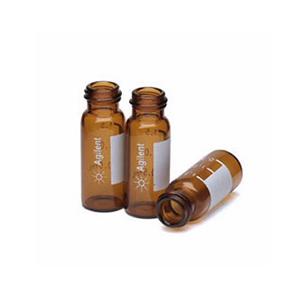 棕色样品瓶套件,螺口,预组装,经认证,带书写签,绿色瓶盖,PTFE/红色橡胶隔垫,2 mL,100/包