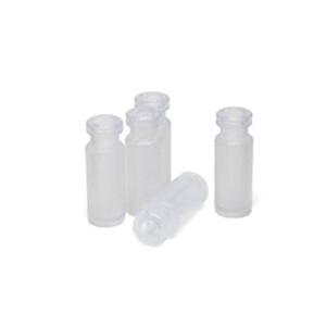 样品瓶,钳口/卡口,聚丙烯,1 mL,100/包。样品瓶规格:12 × 32 mm(11 mm 瓶盖)