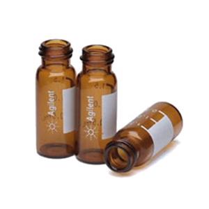 样品瓶,螺口,2 mL,棕色,带书写签,经认证,1000/包。样品瓶规格:12 × 32 mm(12 mm 瓶盖)