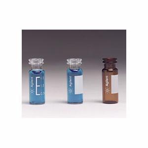 样品瓶便携式套装,钳口/卡口,透明样品瓶,带书写签,透明聚丙烯瓶盖,PTFE/红色橡胶隔垫,500/包。样品瓶规格:12 × 32 mm(11 mm 瓶盖)