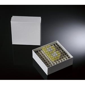 覆膜纸冷冻盒,2英寸,100格,白色,包膜,5个/包,20包/箱