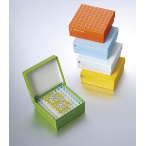 彩色翻盖高端纸冷冻盒,2英寸,81格,133*133*52mm,5个/包,4包/箱