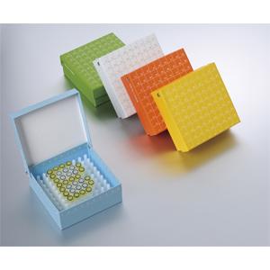 彩色翻盖高端纸冷冻盒,2英寸,100格,133*133*52mm,5个/包,4包/箱