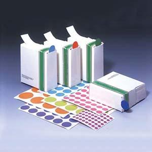 16mm圆点标签,每张40个标签,白色,100张/包