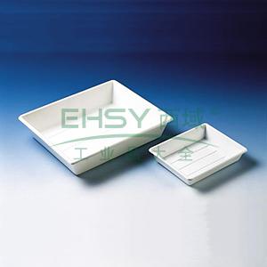 BRAND托盘(显影盘),PP材质,白色,可堆叠,300*240*70mm