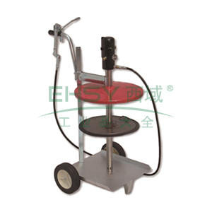 MATO 3411510 55:1可移动黄油泵组套,18/20kg油桶,桶内径285-305mm,带加注枪