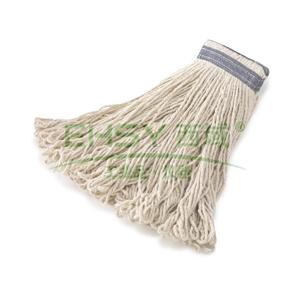 乐柏美通用型连头带棉质拖把,白色
