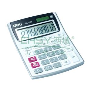 得力桌上型计算器,白色  1260