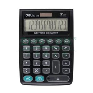 得力桌面型计算器,黑色  1278