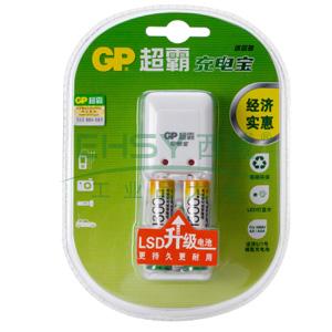 超霸充电器, GPKB02GW2A(附2节5号镍氢充电电池)