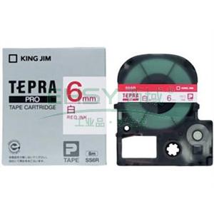 锦宫白色标签色带, 白底红字 6mmx8m,适用锦宫标签机