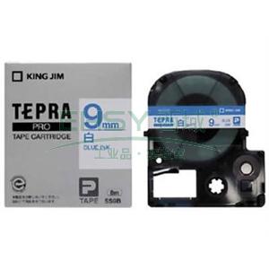 锦宫白色标签色带, 白底蓝字 9mmx8m,适用锦宫标签机