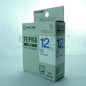 锦宫白色标签色带 ,白底蓝字 12mmx8m,适用锦宫标签机