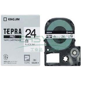 锦宫白色标签色带, 白底黑字 24mmx8m,适用锦宫标签机