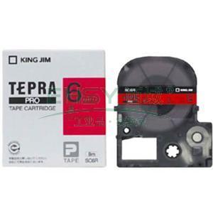 锦宫彩色标签(浅淡色),红底黑字,6mmx8m,适用锦宫标签机