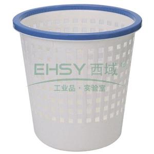 垃圾桶,得力 双色圆形塑料