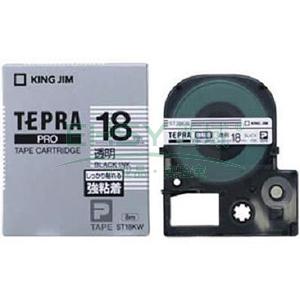 锦宫标签,强粘性 ,黑字透明18mm×8m每卷 ST18KW