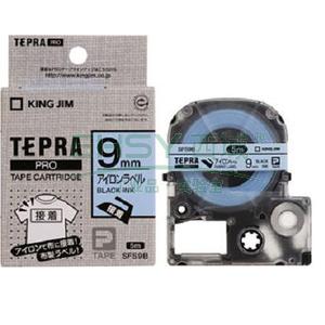 錦宮 標簽,熨燙 ,黑字藍底9mm×5m每卷 SFS9B 單位:個