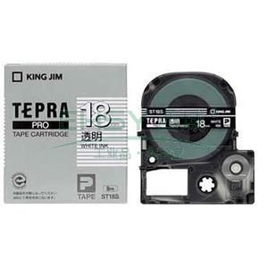 锦宫标签,透明 ,白字透明底18mm×8m每卷 ST18S