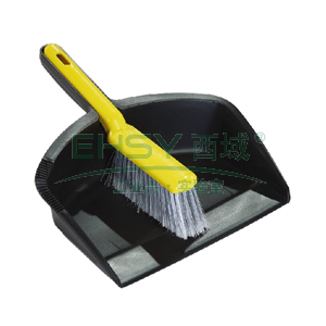 Trust垃圾铲+柜台刷套装, 黑色 31.1cm×21cm×6.7cm