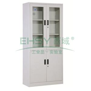 西域推荐 大器械柜,900宽*390深*1850高,灰白色,钢板厚度为0.8mm