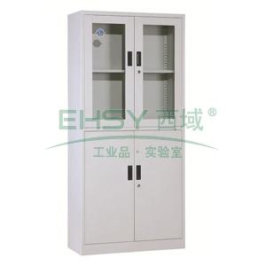 西域推荐 等体器械柜,900宽*390深*1850高,灰白色,钢板厚度为0.8mm