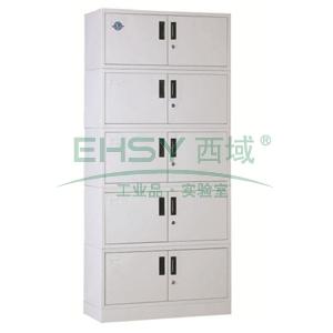 档案柜,900宽*390深*2030高,灰白色,钢板厚度为0.8mm