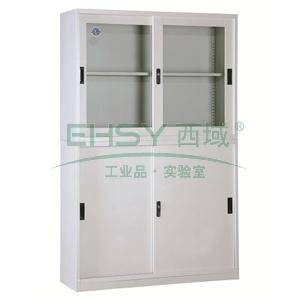宽移门柜,1180宽*390深*1850高,灰白色,钢板厚度为0.8mm
