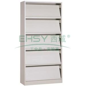 斜体期刊架,900宽*390深*1800高,灰白色,钢板厚度为0.7mm