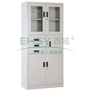 器械偏三斗柜,900宽*390深*1800高,灰白色,钢板厚度为0.7mm