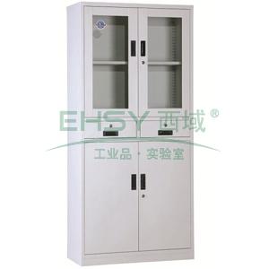 西域推荐 器械中二斗柜,900宽*390深*1800高,灰白色,钢板厚度为0.7mm