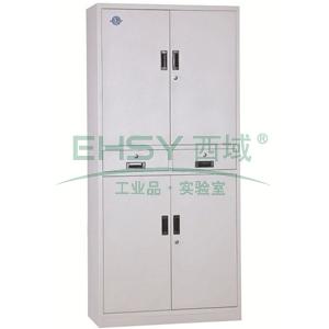 西域推荐 中二斗三节柜,900宽*390深*1800高,灰白色,钢板厚度为0.7mm