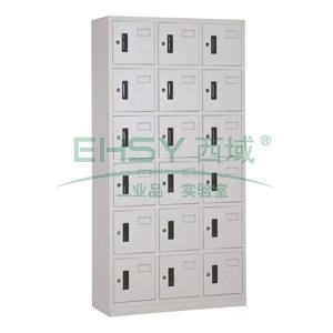 十八门多用柜,900宽*360深*1850高,灰白色,钢板厚度为0.8mm