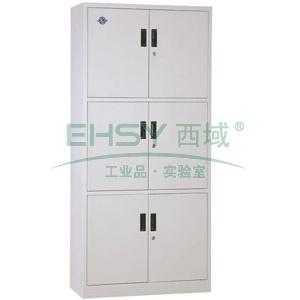 文件柜,通体三节柜,900宽*390深*1800高,灰白色,钢板厚度为0.7mm
