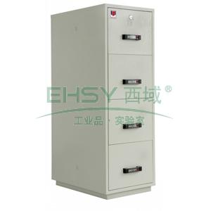 防火防磁文件柜,防火兩小時,4節柜,四個磁盤抽屜,僅限上海