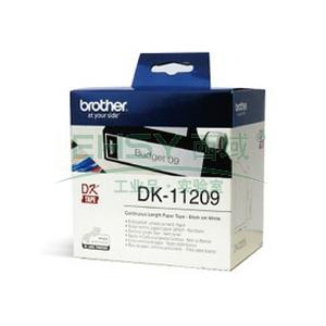 兄弟DK色带,29mm*62mm白底/黑字(纸质800张)